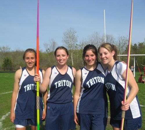 Triton girls javelin squad