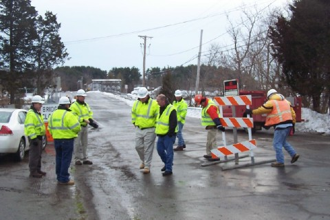 Barriers get pushed back as Parker River Bridge reopens on January 5th.