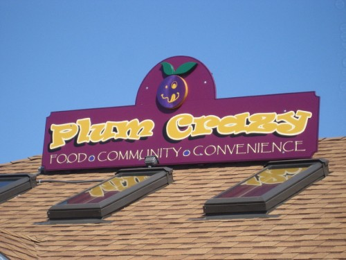 Roof sign for the new restaurant/convenience store on Plum Island.