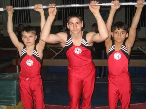 Gabe, Noah, and Taylor from the All Around Gymnastics Training Center in Salisbury.