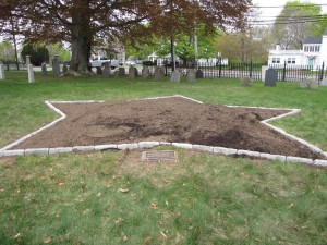 Star Memorial Garden in the making at Rowley Cemetery.