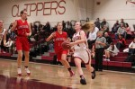 Amy Sullivan heads for the hoop