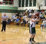 Coley Viselli shoots a technical foul shot