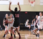 Kelly Gilbert (20) defended by Aaliyah Bohannon (12)