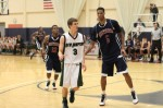 Travis Jorgenson (6 foot) and Chris McCullough (6-9)