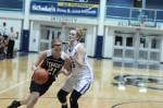Ally Fenner drives on Ashlee Ruzicka