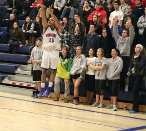 Rich Ruffin gets an open look in front of the Warrior student section
