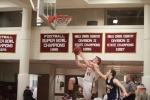 Dillon Guthro beats Adam Buchanan to the hoop