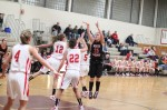 Megan Collins (17 points) shoots