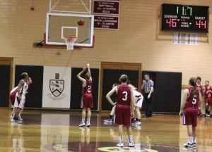 Jackie Ham shoots a free throw