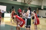 Kelsi McNamara lines up an overtime free throw