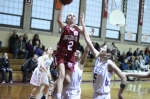 Jackie Ham flies to the basket