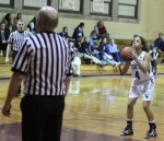 Katie Benzan shoots technical foul shots