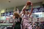 Casey McLaughlin shoots over Emily Dresser
