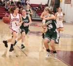 Aly Leahy heads for the hoop