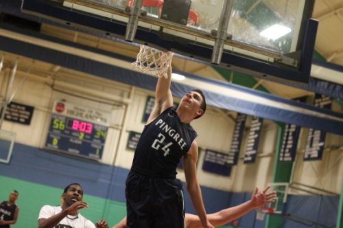 Freshman Justin Assad (26 points) dunked twice against Winchendon