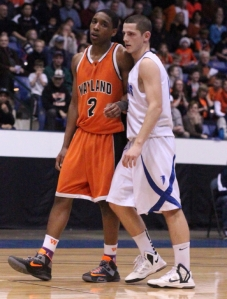 Jaleel Bell (17 points) with Eric Martin