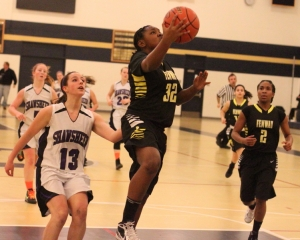 Jaqualah Holliman gets in for two