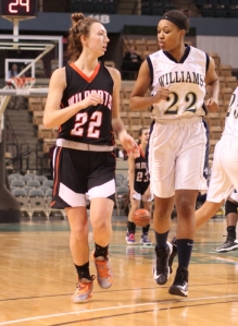 Stephanie Young guarded by Alana Gilmer