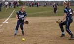 Rylee Culverwell charges a bunt