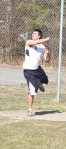 DJ DeGeorge tosses the discus