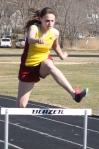 sophomore Lily Eagan won the 400 hurdle