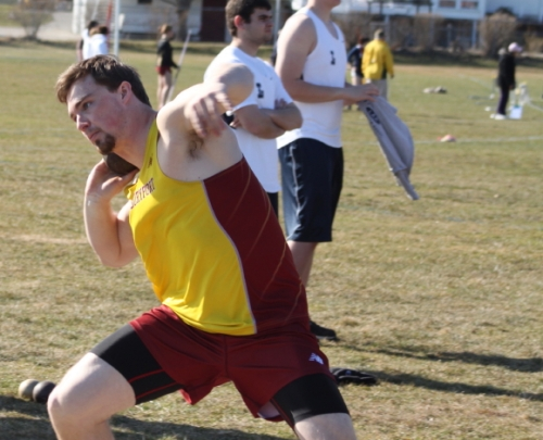 Steve Preston won the shot put, discus, and finished 2nd in the 100