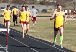 Max Vye leaves the pack in the two mile