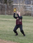 Casey Barlow makes a catch