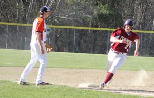 Connor Wile races home with the third Newburyport run