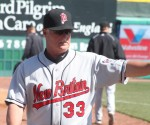 New Britain pitching coach Stu Cliburn