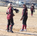 Catcher Lauren Bean and pitcher Victoria Allman