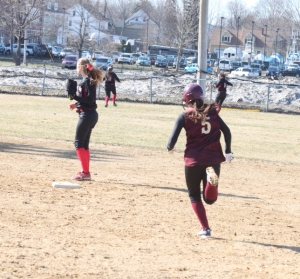 Meghan Stanton tripled to left in the second inning
