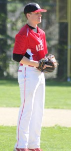 Andy Reidy allowed six hits and struck out eight.
