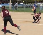 Meghan Stanton throws to Carley Siemasko