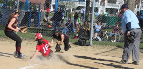 Amanda Schell (#16) had five hits, 5 RBI, and scored four times for Amesbury