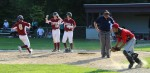 Caleb Stott (#8) scores the 9th Newburyport run