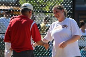 AHS coach Chris Perry and NHS coach Lori Solazzo