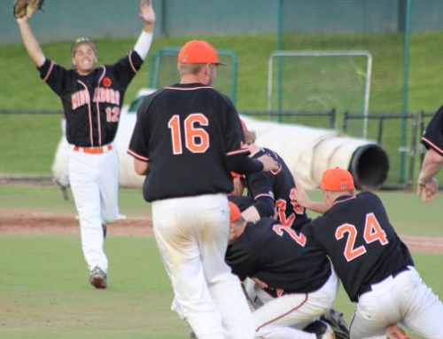 Middleboro starts to celebrate Division 3 semi-finals win over Whittier