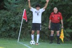 Dmitri Roumeliotis set to corner kick