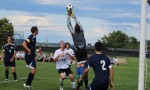 GK Josh McDuffie leaps to save