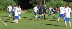 Sam Rickerich (2 goals) fires on goal