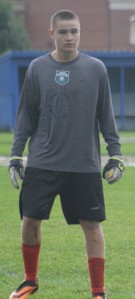 Traip GK Colin Macomber saw plenty of action