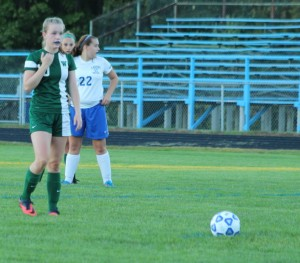 Arianna Giguere lines up a penalty kick