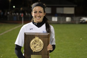 Senior Ariana Davidson with Western Class A title plaque