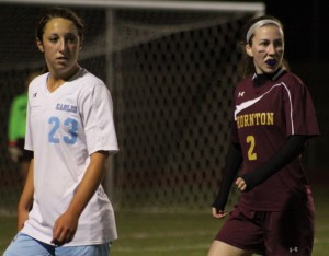 Jenna Soucy (23) and Erin Tangney (2)