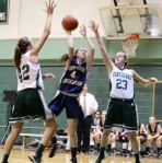 Janey Mathisen gives NDA the lead for good in the 4th quarter converting a rebound
