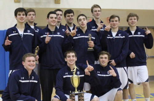 Wilton team poses after winning Hoops for Heroes Tournament