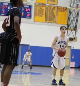 Matt Shifrin (23 points) lines up a free throw in the last minute