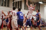 Jack Fortin (13 points) gets a shot in the lane